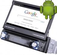 1 DIN Autoradio mit Android 4.0 / Abnehmbarem Bedienteil /  Internet / DVD / DVB-T / Bluetooth / NAVI