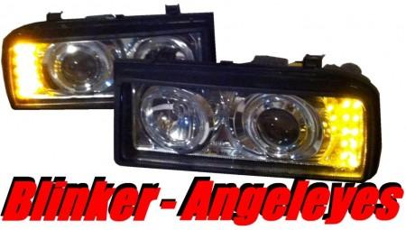 In.Pro Klarglas Scheinwerfer mit LED-Blinker für VW Corrado