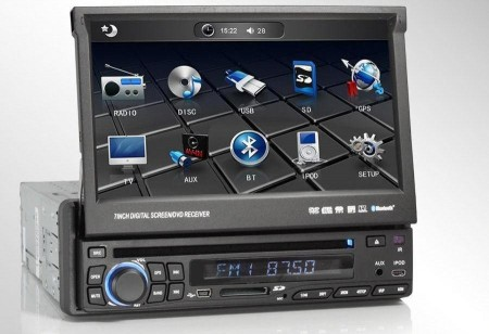1 din autoradio mit internet dvd dvb t bluetooth navi. Black Bedroom Furniture Sets. Home Design Ideas